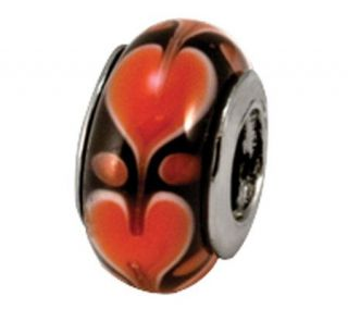 Prerogatives Sterling Red Heart Glass Bead —