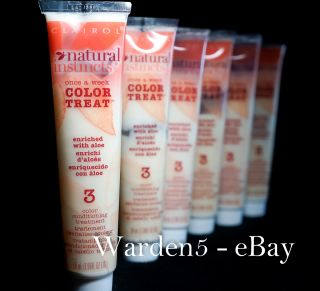 Tubes (Six) Clairol Natural Instincts Color Treat #3 Conditioner Treat