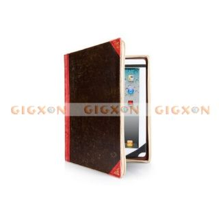 Hot Sale Antique Book Style Case Computer Bag Brown Color for iPad 2 3