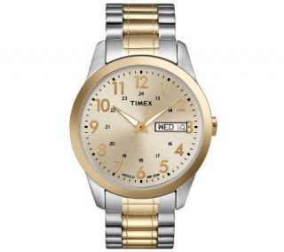 Timex Mens Two Tone Stainless Steel ExpansionBand Watch —