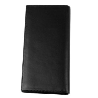 Cool Mens Long Wallet Black Real Cow Leather Credit Card Zipper Change