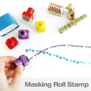Mini Roll Stamp Message Pattern Masking Roll Stamp