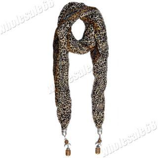Fashion Jewelry 1pc Sexy Designing Leopard Charming Women Neck Scarf
