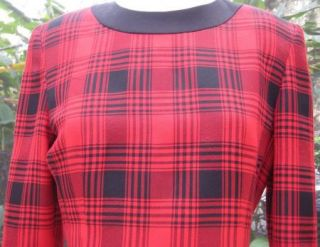 Kathryn Conover New York Lined Dress Size 6 Checkered Black Red Long