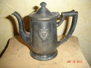 ANTIQUE ESTATE CONRAD HILTON TEA POT CREAMER SILVER SOLDERED INTL