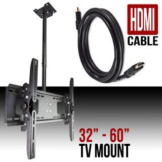 Mount Ceiling 32 37 42 46 50 52 60 LCD LED Plasma Flat Screen HDMI
