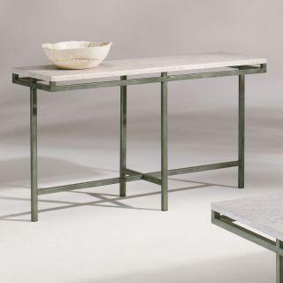 Metal Stone Modern Rectangular Console Table