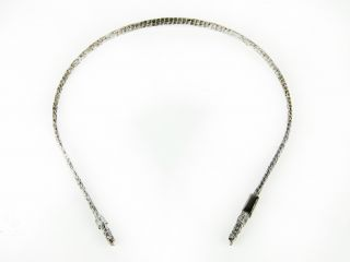 Colette Malouf Womens Pewter Thin Fabric Covered Wire Headband $75 New