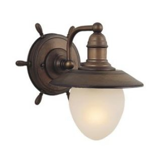 NEW 1 Light Nautical Wall Sconce Outdoor Lighting Fixture, Copper