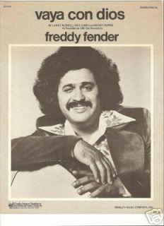 Sheet Music Freddy Fender Vaya Con Dios 72