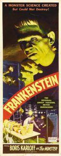 Movie Poster 14x36 Insert Boris Karloff Colin Clive Mae Clarke