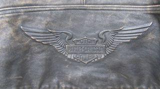 Vintage Harley Davidson Panhead Distressed Leather Jacket Mens Size