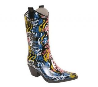 Nomad Yippy Western Style Animal Funk Rain Boots —