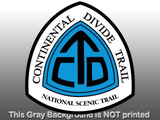 Continental Divide Trail Sign Sticker Decal National Scenic Logo Hike