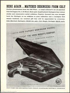 DERINGER No 4 PISTOL AD Collectible Firearms Gun Handgun Advertising