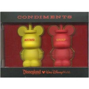 Disney Vinylmation Condiments Ketchup and Mustard 3D Pin Set of 2 New