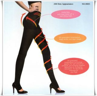 3D Correction appeared fashion toeless tights pantyhose CAREZZE
