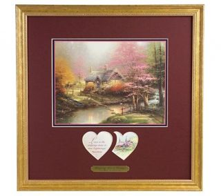 Stepping Stone Cottage Inspirational Print by Thomas Kinkade
