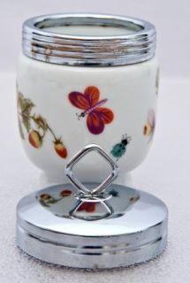 King Size Porcelain Egg Coddler Royal Crown Japan Spring Time