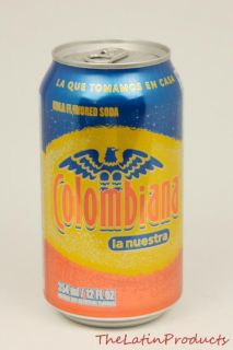 Pack   La Nuestra Colombiana Cola Flavored Soda Soft Drink Can 12 oz