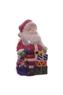 Santa Claus Christmas Kitchen Cookie Jar Ceramic Decoration Holiday