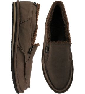 Reef Soulwolf Canvas Cruiser Slipper Shoes Brown