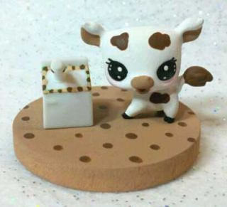 Cookies and Milk OOAK Hand Painted Custom Littlest Pet Shop