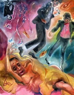 PRINT Michael Jackson MJ Dr. Conrad Murray Scream Horror Art Painting