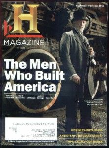 The History Channel Magazine September October 2012 The Men Who Built