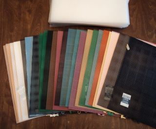 estate lot plastic canvas sheets 7 mesh 24 colored + 36 clear free