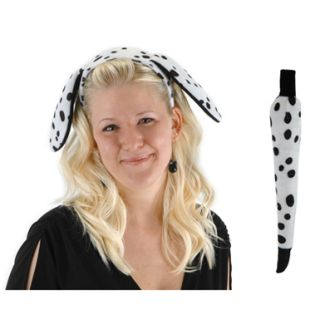 Dalmatian Dog Ears and Tail Set Halloween Costume Kit
