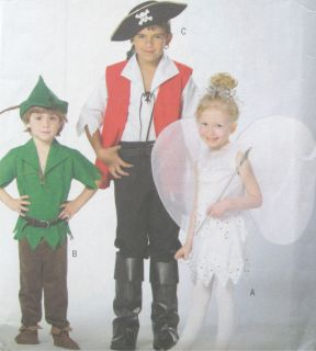 Childs Costume Pattern Wings Mocassins Boots Pants 4632
