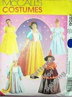 Pattern McCalls Sew Costume Halloween Girl Sz 10 14 Princess Witch