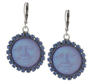 Kirks Folly Seaview Moon Lever Back Earrings —