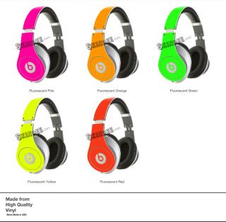 Pink Neon Skin Kit for Monster Beats by Dr Dre Studio Headphones