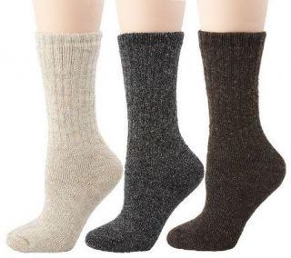 Pair Acrylic Wool Blend Comfort Stretch Socks —