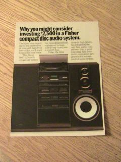 1986 Fisher Audio Advertisement Compact Disc System Ad