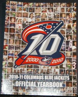 2010 11 Columbus Blue Jackets Yearbook 10th Anniversary