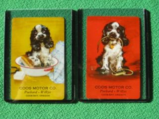 Coos Bay Oregon Packard Willys Cars Butch Cocker Spaniel Art by
