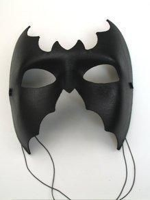 Black Bat Costume Accessory Masquerade Party Face Mask