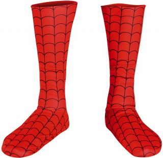 Child Marvel Spiderman Costume Boot Covers