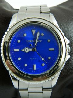 COTE DE AZUR BLUE FACE MANS WATCH NEW BATTERY FREE OF SCRATCHES
