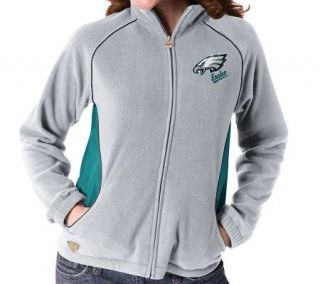NFL Philadelphia Eagles Womens Overlay Micro Fleece Jacket   A312051