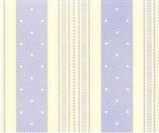 POLKA DOT STRIPE Purple COUNTRY COTTAGE Wallpaper DOUBLE