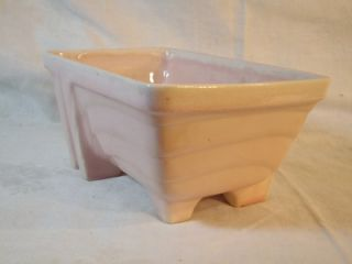 Vintage Cookson Pottery Pink Footed Flower Planter CP 1268 USA