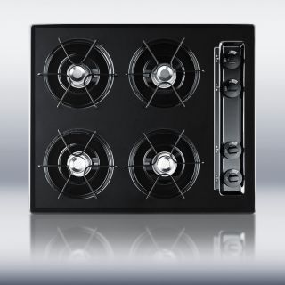 New in Box Black 24 Gas 4 Burner CookTop Surface Unit Elec Ign   FREE