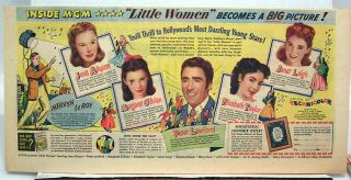 1949 Newspaper Sunday Comic Little Women Movie Ad