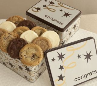 Cheryls Congrats Star Gift Tin   12 Assorted Cookies   M111556