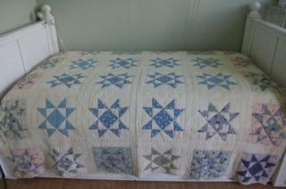 Quilt Wonderful Blue Calico Prints Country Colors Nice One
