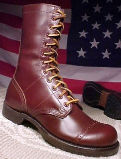CORCORAN MEN SIZE 9 1 2 D MADE IN USA NEW BROWN PARATROOPER COMBAT